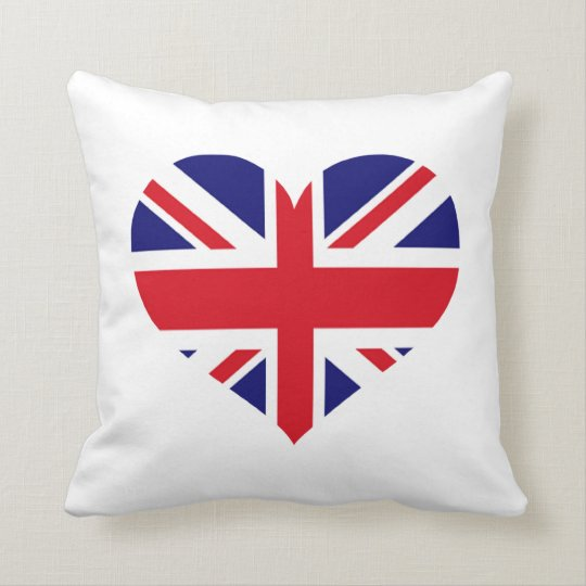 UK Union Jack Throw Pillow