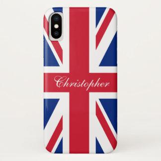 UK United Kingdom British Flag Union Jack iPhone X Case