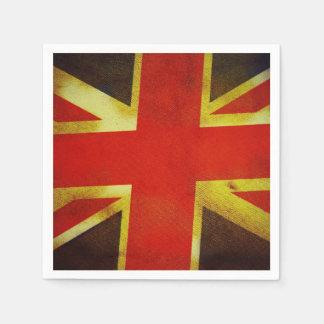 UK United Kingdom England Flag Standard Cocktail Napkin