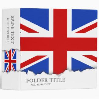 Uk United Kingdom Flag Binder