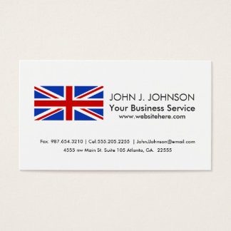 Uk United Kingdom Flag Business Card