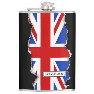 Uk United Kingdom Flag Hip Flask