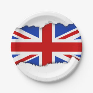 Uk United Kingdom Flag Paper Plate