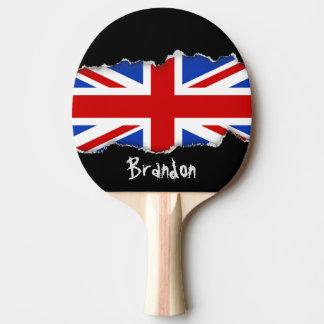 Uk United Kingdom Flag Ping Pong Paddle