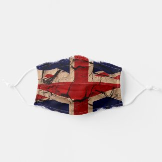 UK United Kingdom Patriotic Union Flag Cloth Face Mask