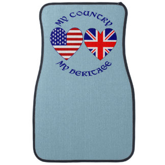 UK USA Country Heritage Floor Mat