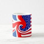 UK/USA FLAG-LOVIN' COUSINS CLASSIC WHITE COFFEE MUG