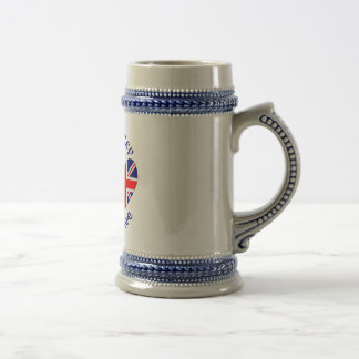 UK USA My Country My Heritage Beer Stein