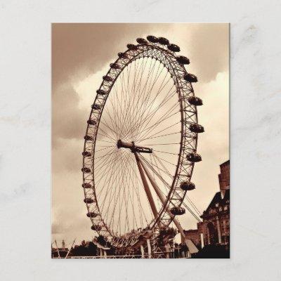 (UK) Vintage London Eye Postcard postcard