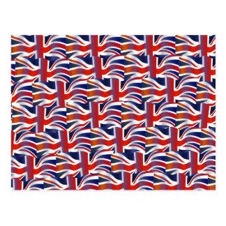 Uk Wavy Flag Wallpaper Post Cards