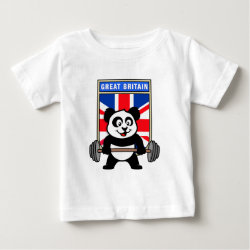 Great Britain Weightlifting Panda Baby Fine Jersey T-Shirt