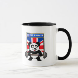 Combo Mug with Great Britain Weightlifting Panda design