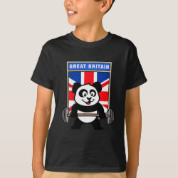 Great Britain Weightlifting Panda Kids' Hanes TAGLESS® T-Shirt