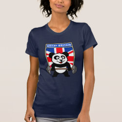 Women's American Apparel Fine Jersey Short Sleeve T-Shirt with Great Britain Weightlifting Panda design