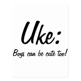 Uke : Boys can be cute too! Postcard