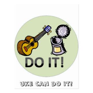 Uke can do it! postcard