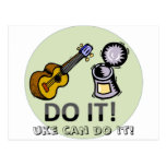 Uke can do it! postcards