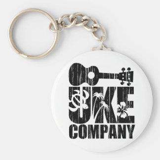 Uke Company Basic Round Button Keychain