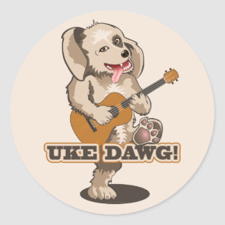 Uke Dawg! Classic Round Sticker
