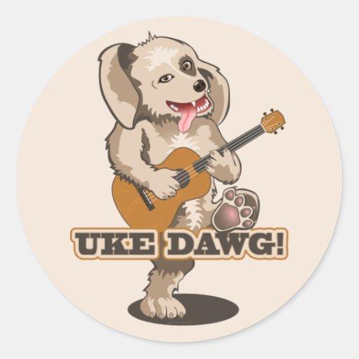 Uke Dawg! Round Stickers