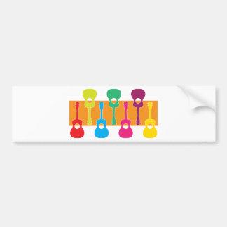Uke Graphic Car Bumper Sticker