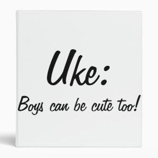 Uke: ¡Los muchachos pueden ser lindos también!