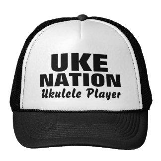 UKE, NACIÓN, jugador del Ukulele Gorras De Camionero