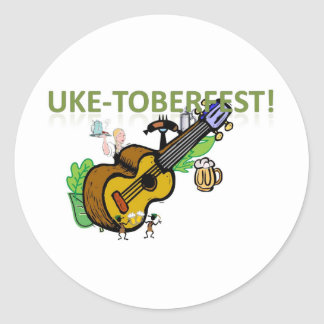 Uke-Toberfest! Classic Round Sticker