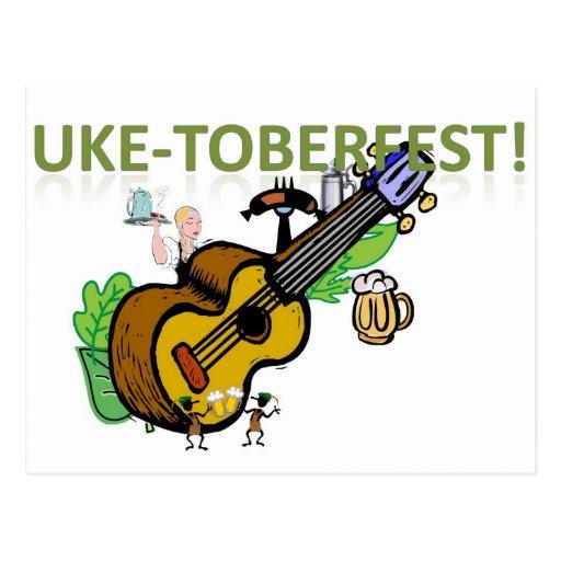 ¡Uke-Toberfest! Tarjeta Postal