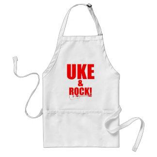 Uke y roca delantal
