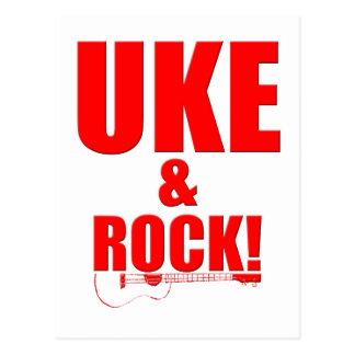 Uke y roca postal