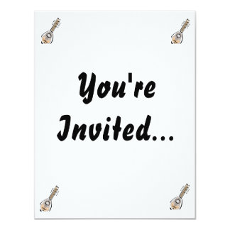 Ukelele, eight string, graphic image design 4.25x5.5 paper invitation card