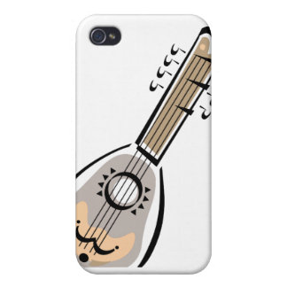 Ukelele, eight string, graphic image design iPhone 4 cover