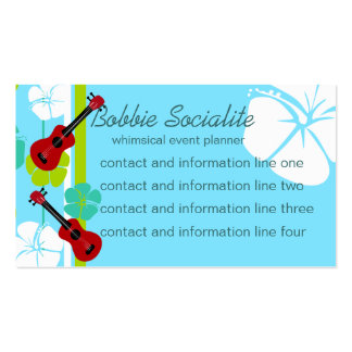 Ukelele Time! Double-Sided Standard Business Cards (Pack Of 100)