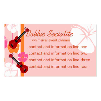 Ukelele Time! Business Card Templates