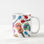 Ukeleles colorido tazas