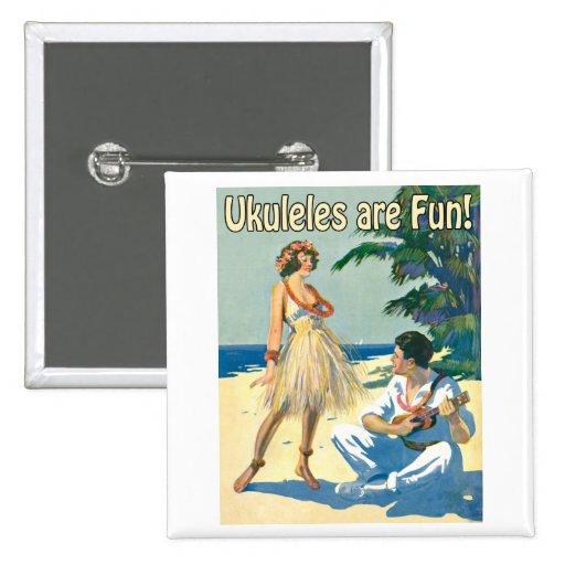 ¡Ukes es diversión! Botón Pins