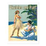 ¡Ukes es diversión! Postal