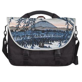 Ukiyo-e el monte Fuji Japón Bolsas Para Portatil