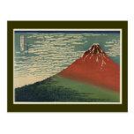 Ukiyo-e Hokusai Fujiyama Postal