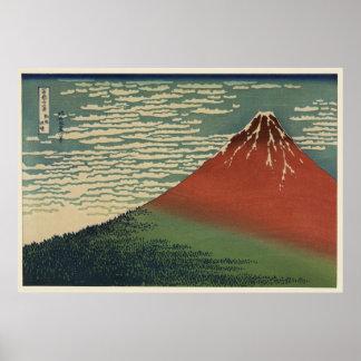 Ukiyo-e Hokusai Fujiyama Poster