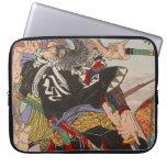 Ukiyo-e Japanese Painting A Samurai Fighting Laptop Sleeves