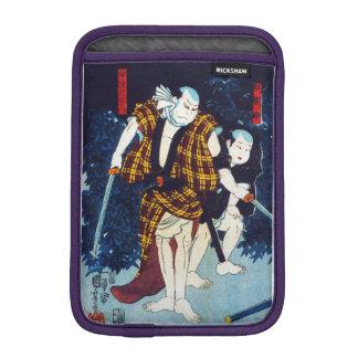 Ukiyo-e Japanese Painting Of Two Kabuki Players Sleeve For iPad Mini