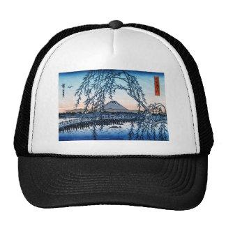 Ukiyo-e Mt. Fuji Japan Trucker Hat