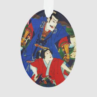 Ukiyo-e Old Japanese Painting Of Two Samurais