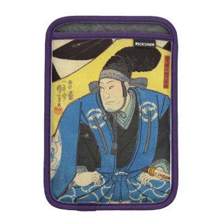 Ukiyo-e Painting Of A Samurai In Yellow Background iPad Mini Sleeve