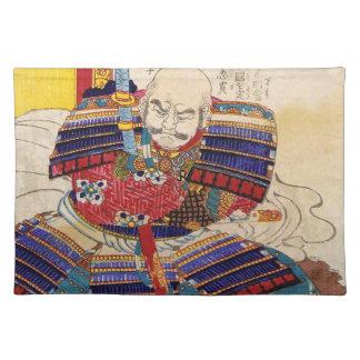 Ukiyo-e Painting Of A Samurai Wearing Armor Cloth Placemat