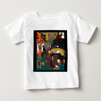 Ukiyo-e Revisited: Hellcat Elegy Baby T-Shirt