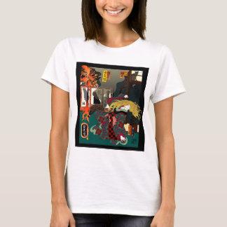 Ukiyo-e Revisited: Hellcat Elegy T-Shirt