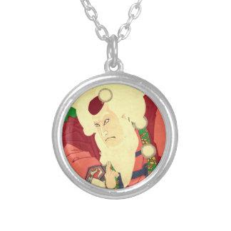Ukiyo-e Santa Claus Silver Plated Necklace